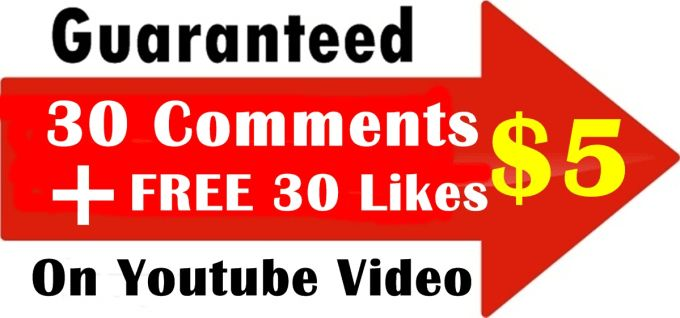I have a nice cheap YouTube Comments offer. I will give you 30 YouTube custom comments in only English, very fast only $5. And I give some like bonus on your Video link for basic package. it is my permanent service. It is very cheap offer than other. You can purchase it and also take advantage of Standard and Premium package. visit : https://www.fiverr.com/bhagwat68/get-30-youtube-custome-comments-with-free-30-likes