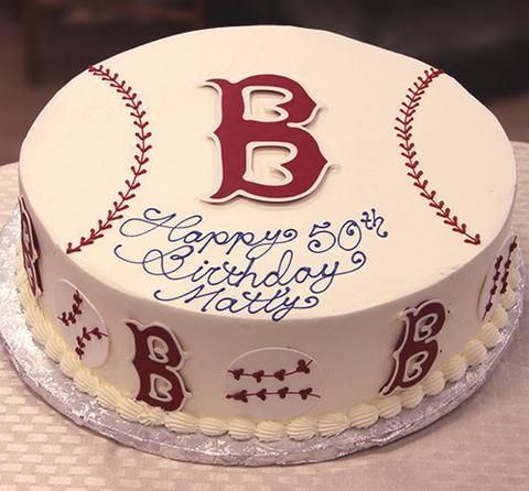 We did this cake last year for hubby's b.day! #YUMMY #partywithMLB red sox | Konditor Meister