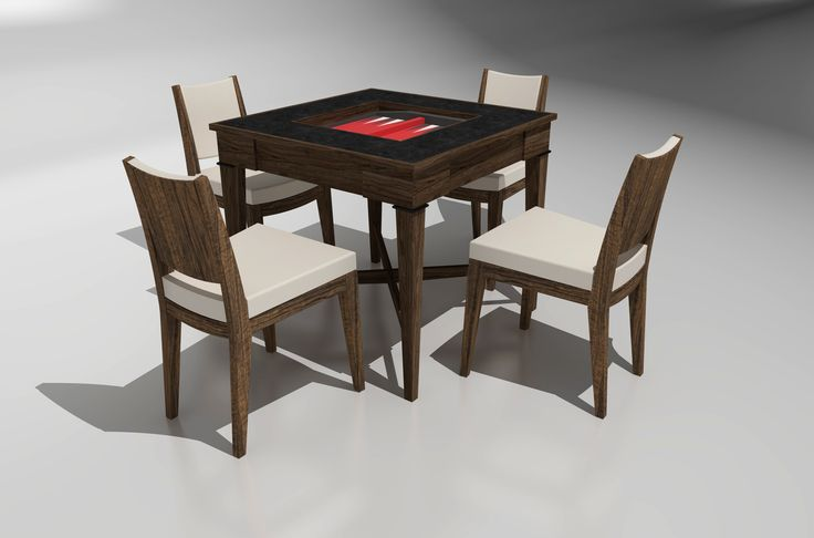 Custom games table and chairs by Cruikshank