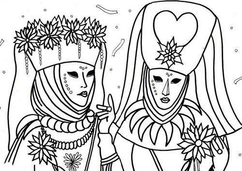 Girotondo di Bimbi: Disegni di carnevale da colorare