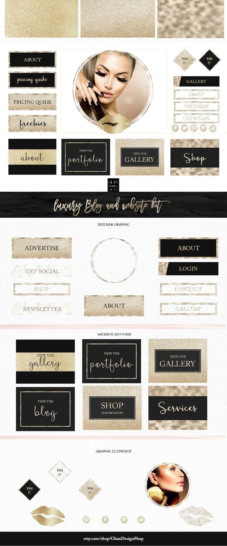 Excited to share the latest addition to my #etsy shop: Sparkling Luxury blog kit | Makeup artist logo Branding Kit | Glitter website kit | Blogging kit | Blog design kit | Website graphic #bronze #blogkit #brandingkit #bloggingkit #blogmakeover http://etsy.me/2hwEhT1