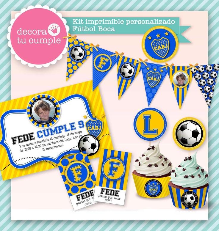 Boca Juniors soccer team / Fiesta de Boca Juniors www.decoratucumple.weebly.com