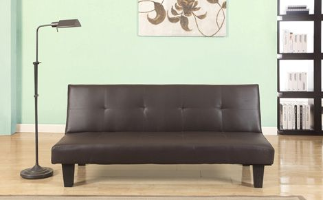 Franklin Brown Leather Sofa Bed