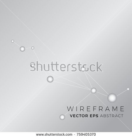 Vector Abstract Connection Drawing, Wireframe Poster Templates, Line Art Graphic Collection, Abstract Hipster Backgrounds, Brochures, Blend Futuristic Background