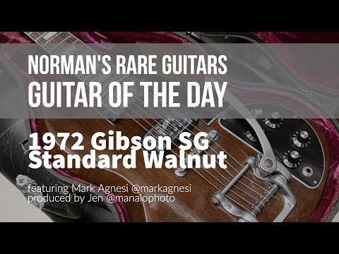 Norman's Rare Guitars - Guitar of the Day: 1972 Gibson SG Standard walNUT - YouTube