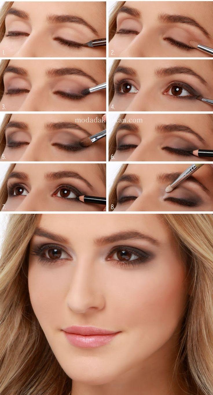 En Güzel Dumanlı Göz Makyajı Aşamaları