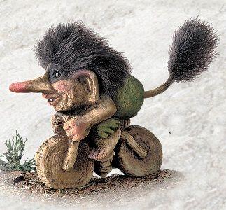 Norwegian Trolls Norway   840251 Troll on bike - Troll shop - Norwegian trolls from Shop Norway ...