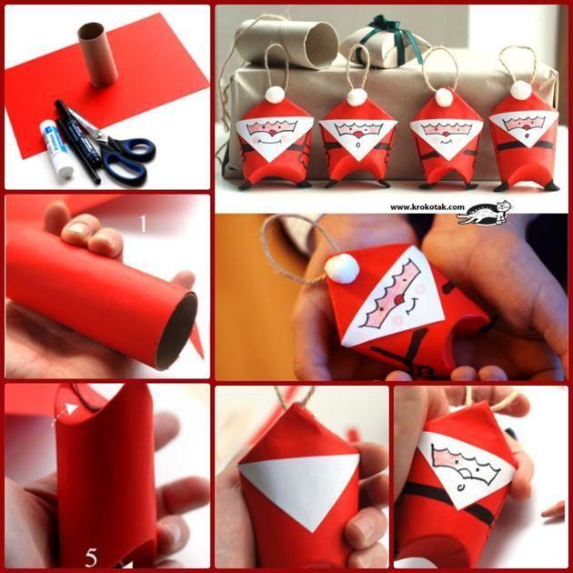 M s de 25 ideas incre bles sobre adornos navide os hechos - Adornos de navidad hechos a mano por ninos ...