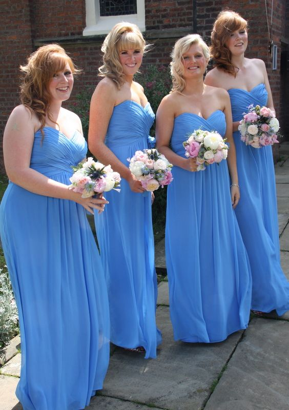 Forget Me Not Coloured Brides Maids Dresses