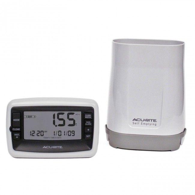 Pluviômetro Meditor de Milímetros de Chuva Sem Fio Deluxe 00899 - AcuRite - Jardim - Ferramentas e Jardim