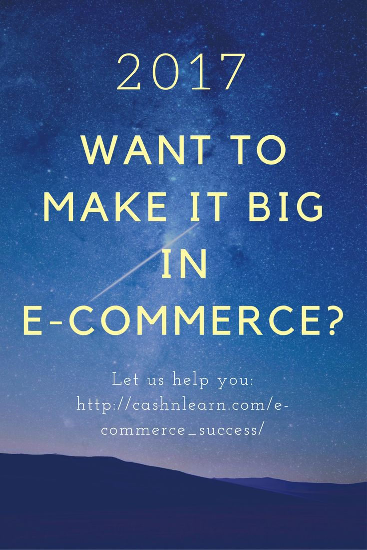 According to Business News Daily, in the article published March of 2017, E-Commerce is one of the fastest growing industries in the world today. Learn how to succeed in ecommerce here: http://cashnlearn.com/e-commerce_success/