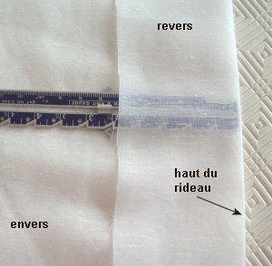 Coupe Couture : Voilage plissé
