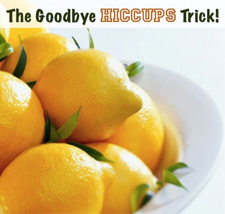The Goodbye Hiccups Trick!  {use this easy trick the next time you get those pesky hiccups!} via TheFrugalGirls.com
