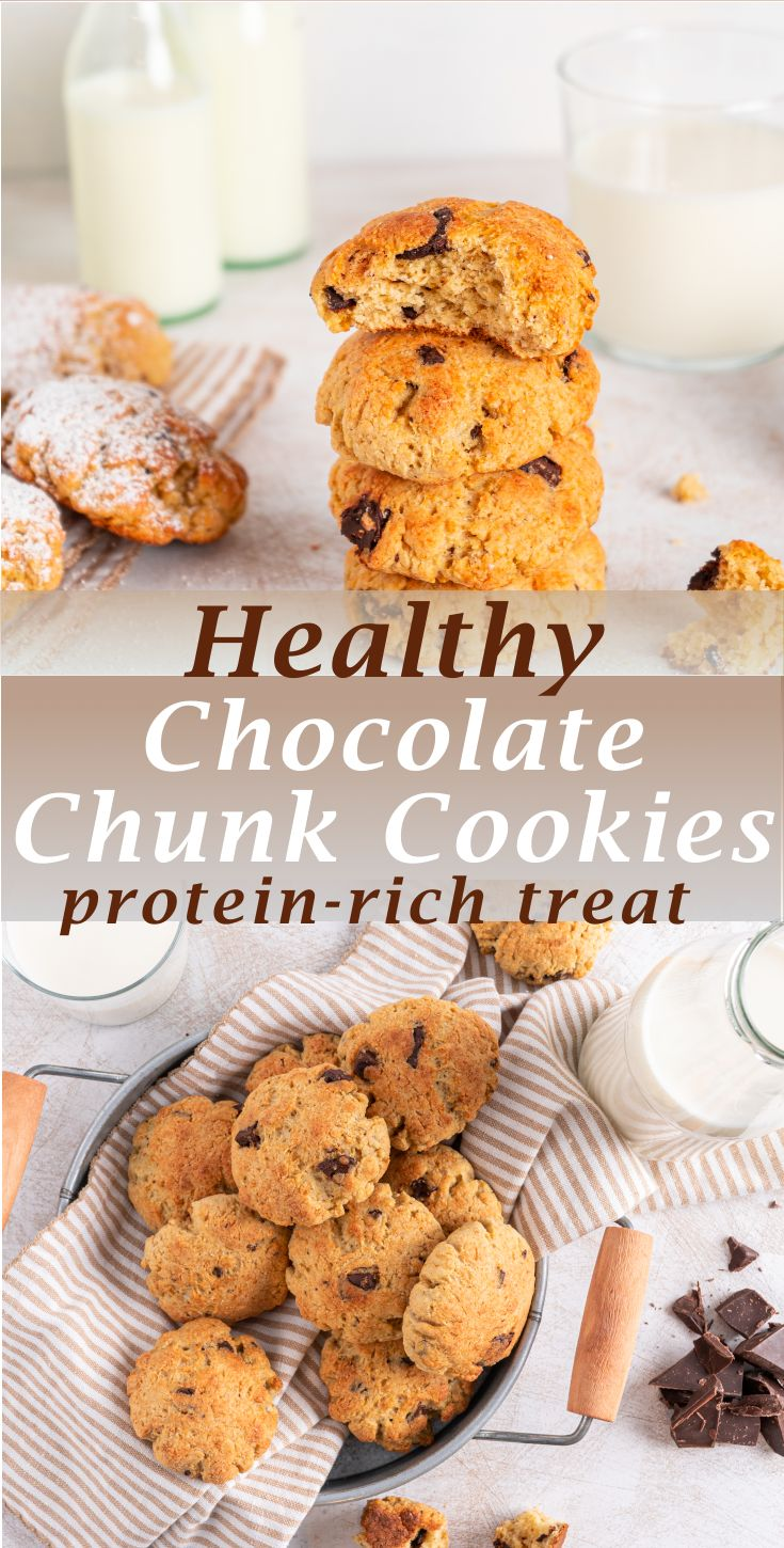 Jun 30, 2020 – These are Healthy Chocolate Chunk Cookies with a soft middle that are truly delicious and really simple t…