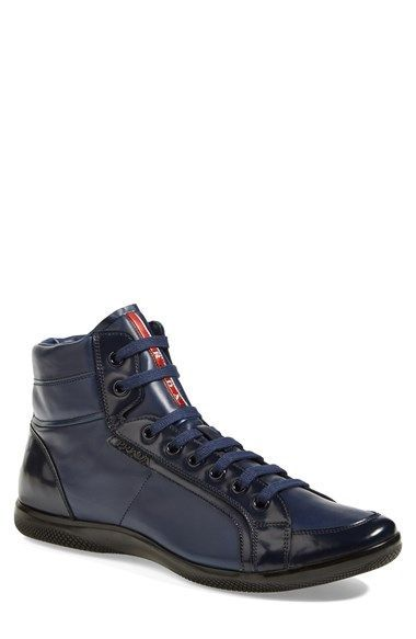 Prada 'Offshore' High Top Sneaker (Men) available at #Nordstrom
