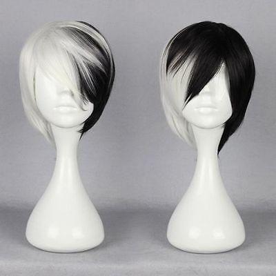 Best New Half Black Half White Short Wig Anime Cosplay Cruella Deville Wig Under $14.66 | Dhgate.Com