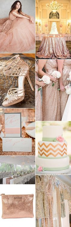 We love the metallic sparkle of a rose gold wedding theme - GS Inspiration at Glitzy Secrets