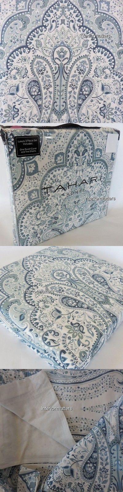 Duvet Covers and Sets 37644: Tahari Medallion 3Pc Full Queen Duvet Cover Set Blue Ivory 300Tc New -> BUY IT NOW ONLY: $98 on eBay!