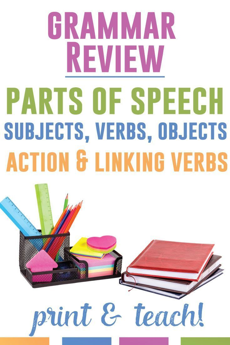 Need a quick grammar review? These 60 sentences review parts of speech, parts of a sentence, and specifics like action and linking verbs.