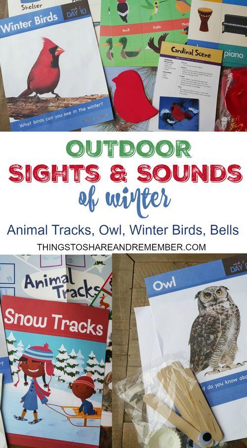Outdoor Sights & Sounds of Winter Preschool Theme #MGTblogger