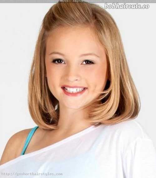 Short hair teen girl facial