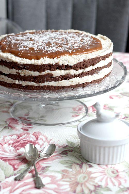raw chocolate and coconut layered cake layered chocolate cakes raw ...