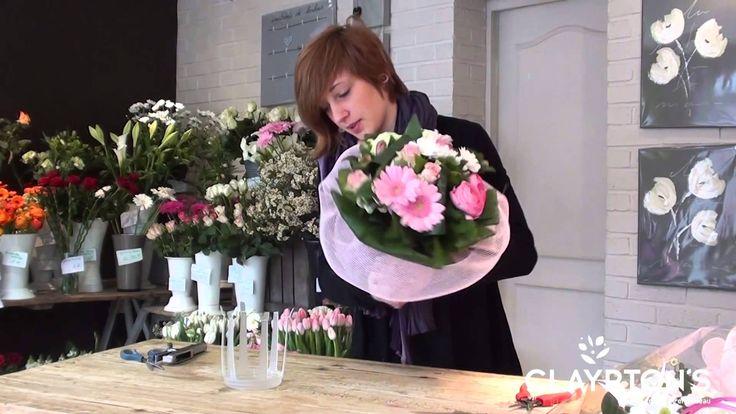 Bouquet bulle d'eau colerette zéphir #clayrtons #bouquet #romantic #pink #emballage
