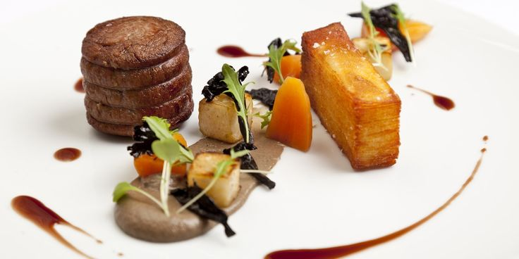 Fillet of grass-fed beef, pomme anna and mushroom purée  by Simon Gueller