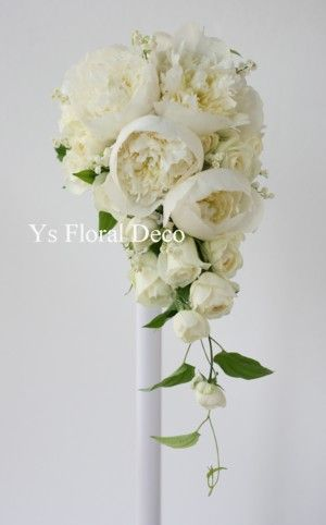芍薬のキャスケードブーケ @水天宮のロイヤルパークホテル ys floral deco