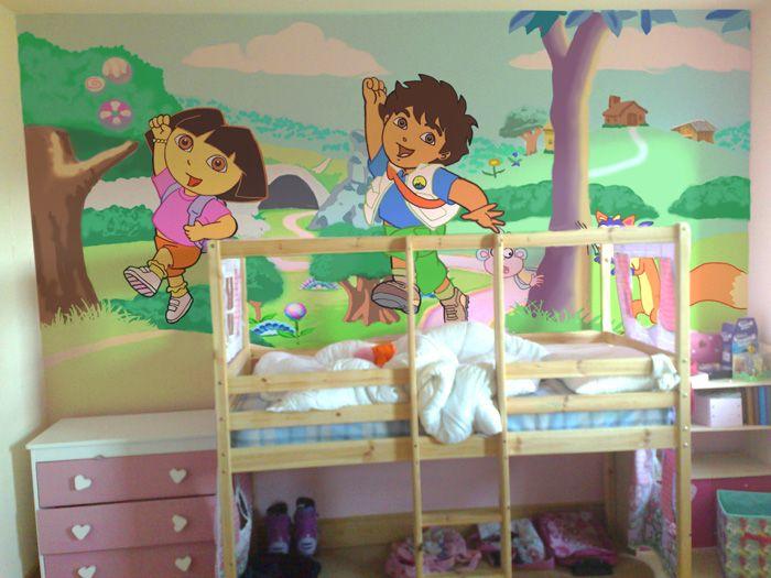 Una excelente idea para tu hija. #Dora #Recamara #Cuarto #Decoracion #Colchas #Intima #Cobertor #Ideas #IntimaHogar