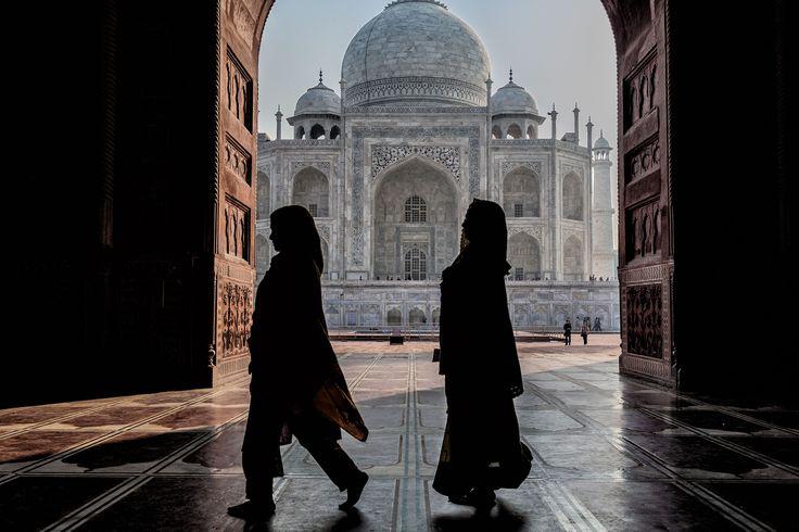 Silhouette in Taj Mahal by Matteo Fortunato on 500px