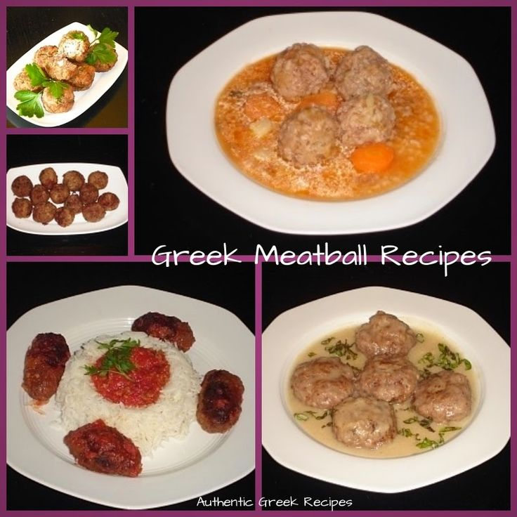 Authentic Greek Recipes: Side Dishes                                        5 Greek meatball receips