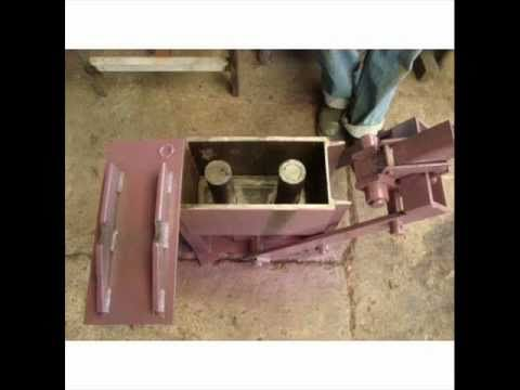 Aprenda a Construir Maquina Prensadora de Bloques Económico y Eficaz sistema de Ladrillo México 2.0 - YouTube