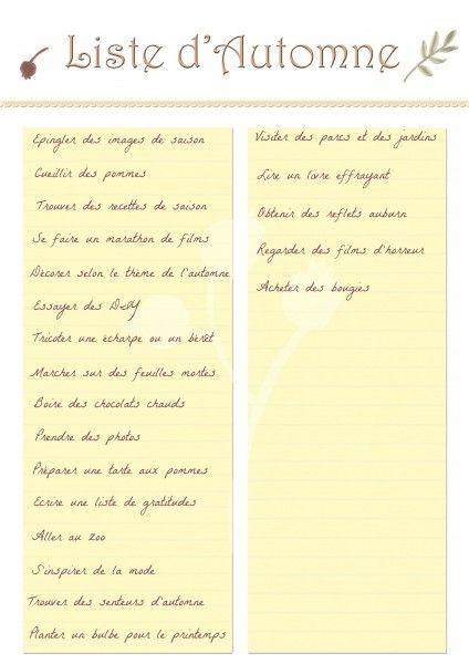 Ma liste de choses à faire ou d'activités pour l'#Automne afin d'en profiter. Recevez GRATUITEMENT cette liste dans Le kit complet de printables à télécharger sur lutetiaflaviae.com !