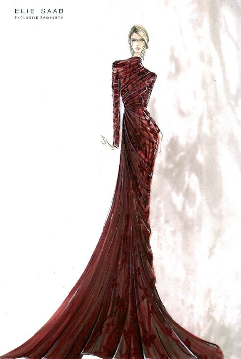 ElieSaab sketch - Fashion & Couture