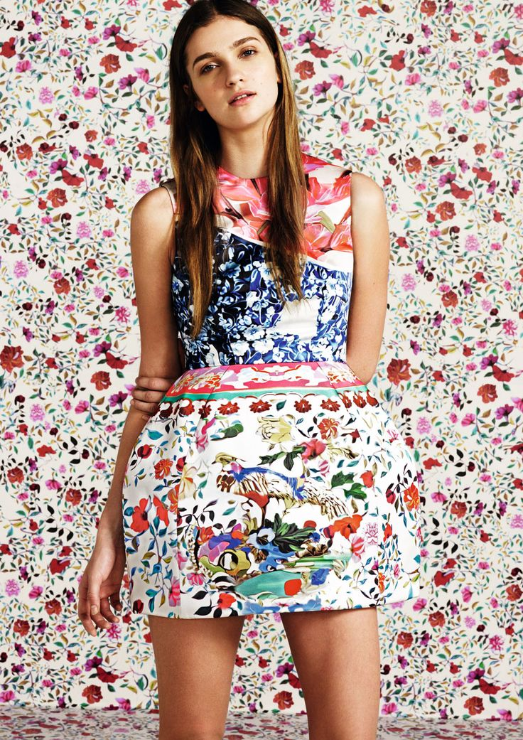 Mary Katrantzou for Topshop. These bold florals and print on prints are just crazy amazing.