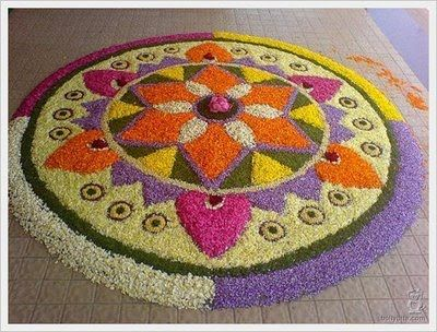 Flower rangoli