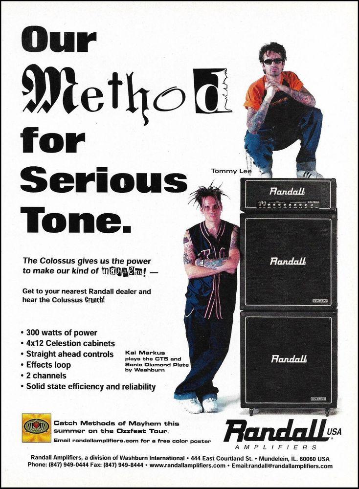 Methods of Mayhem Tommy Lee Kal Markus Randall Colossus series amps