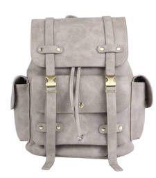 Buy Grey plain backpacks backpack online