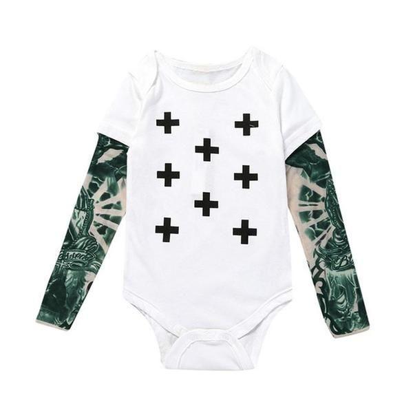 Baby Boys Graffiti Print Long Sleeve Crew Neck Body Suit NWT Free Shipping