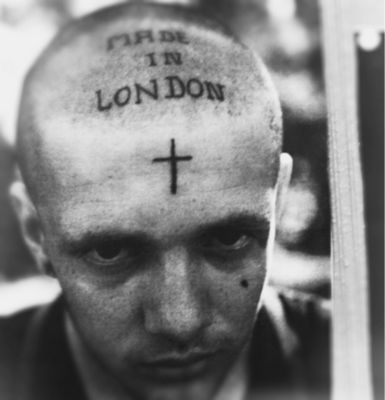 Made in London | proper rebel | radical | london | 1980s | punk | anarchist | cross | facial tattoo. | www.republicofyou.com.au