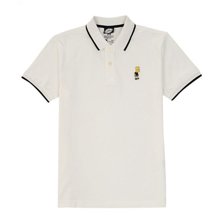 Spao Bart Simpson Embroidery Tip Color Polo Kara T Shirt SPHA624C10 2 Options | eBay
