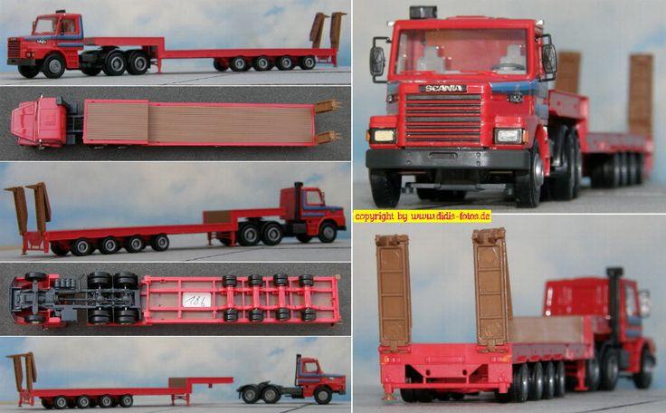 Scania 142 Tieflade-Sattelzug (Herpa 837220)