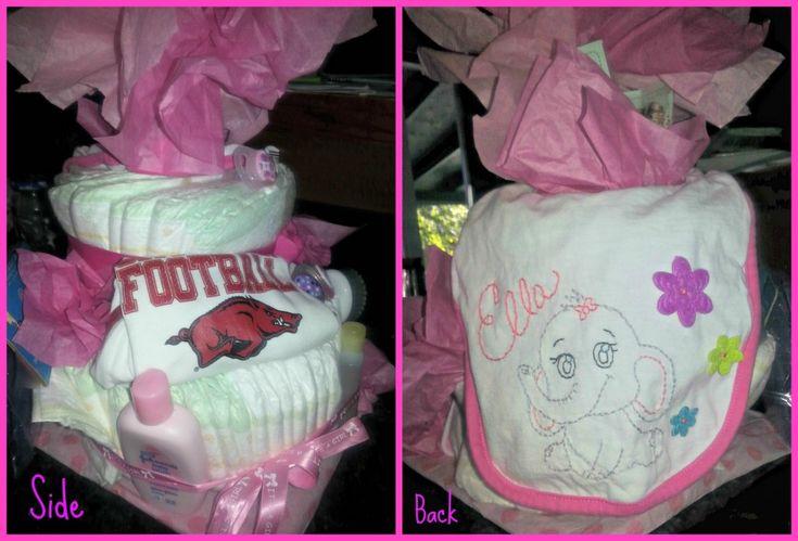 #DIY Diaper Cake #Tutorial #baby #babygifts #babycrafts #crafts #DIYGifts
