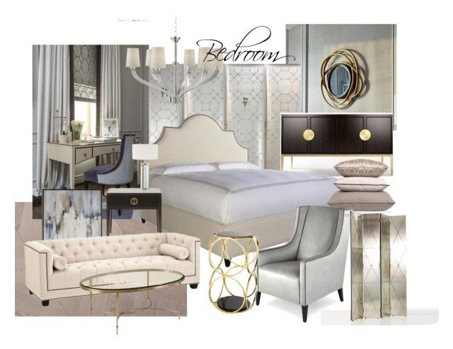 ZR bedroom by naala-art on Polyvore featuring polyvore, interior, interiors, interior design, home, home decor, interior decorating, Arteriors, Visual Comfort, Bernhardt and bedroom