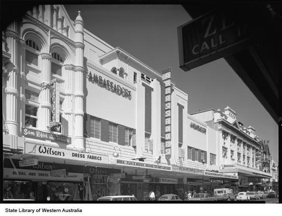 Ambassadors Theatre, 629 Hay Street, Perth, ca. 1967.