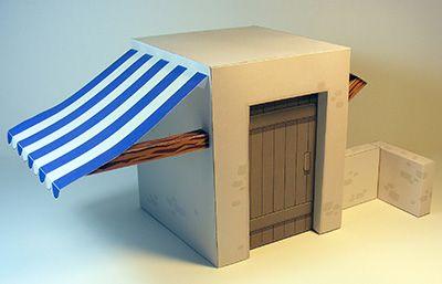 Casita de papel en 3D,  de los tiempos bíblicos