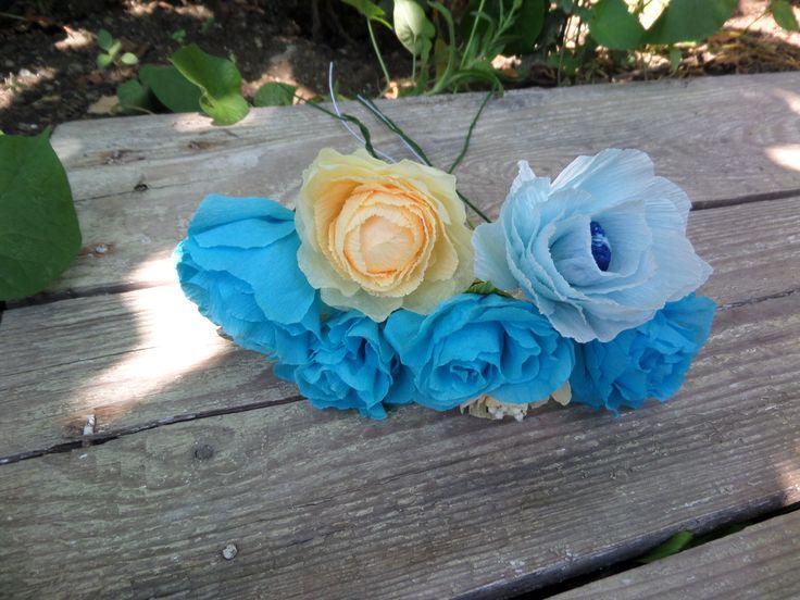 Blue Flowers - Quilling Design Antonia