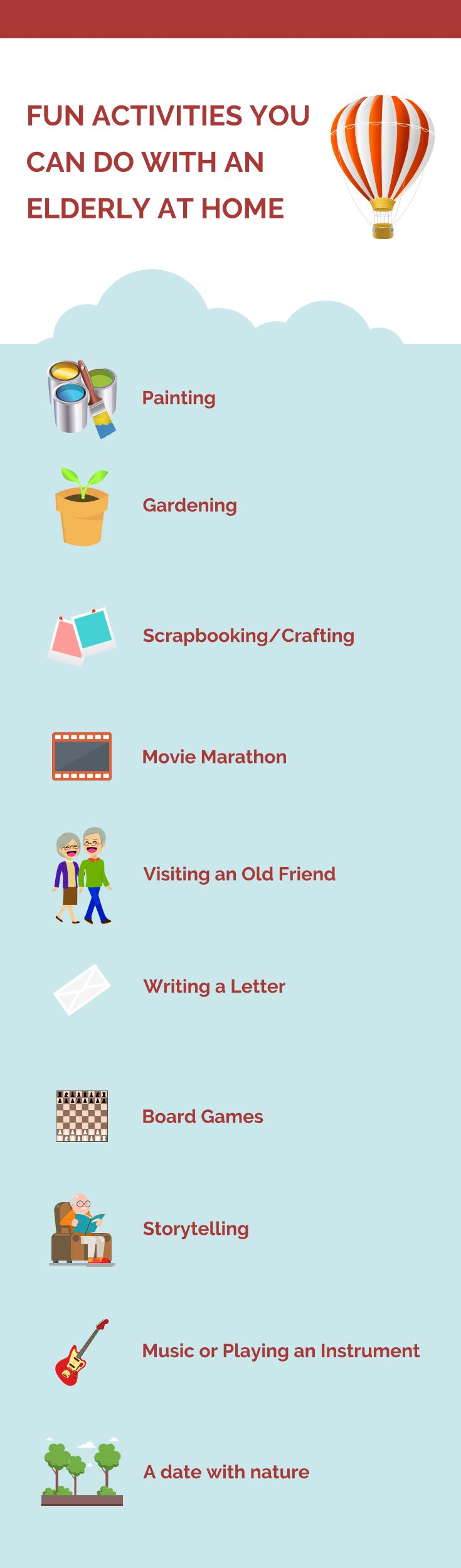 Fun Activities You Can Do with an Elderly at Home #seniorcare