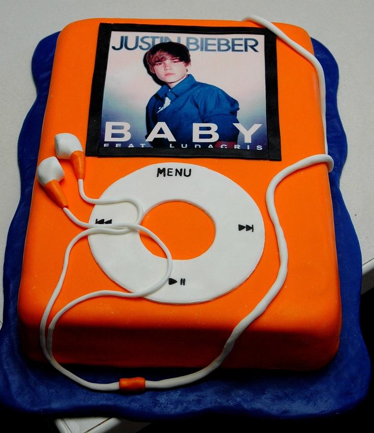 Justin Bieber Ipod cake